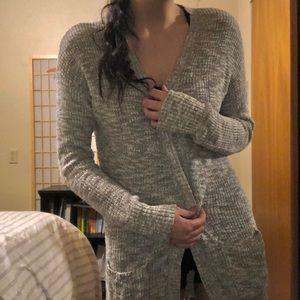 Mossimo Grey Long Cardigan Sweater